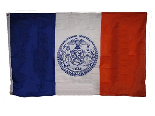 ALBATROS 3 ft x 5 ft New York City NY 100% Polyester 100D Flag House Banner Brass Grommets for Home and Parades, Official Party, All Weather Indoors Outdoors -
