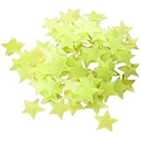 300pcs Plastic 3D Stars Glow in the Dark Stickers Night Luminous Wall Decal Sticker For Kids Bedroom Living Room…