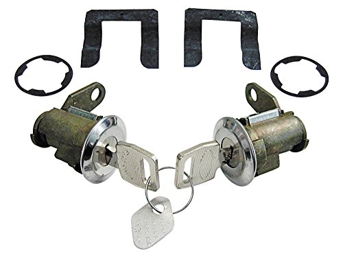New 1980-81 1984-91 F150, F250, F350, Bronco Pickup Door Lock Cylinders Set with Keys Left Right Pair (LCK49)
