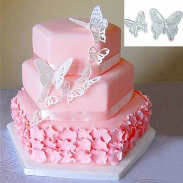 2Pcs Plastic Butterfly Cake Cookies Cutter Cale Decorating - Nyc Store Oakley