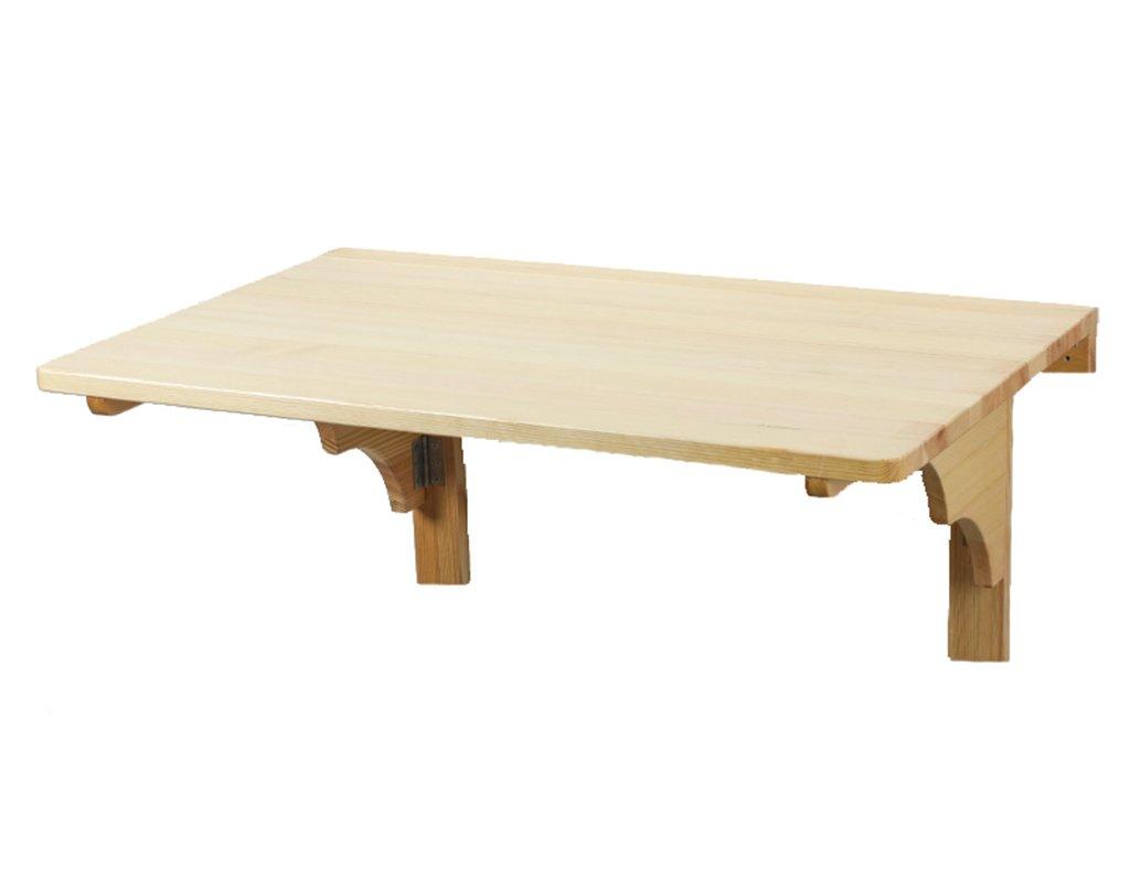 吊り壁テーブルソリッドウッド壁掛けFoldableコンピュータデスクの壁のダイニングテーブルスタイルのサイズオプション ( 色 : Pine wood , サイズ さいず : 80*50cm ) B07B3RP9MGPine wood 80*50cm