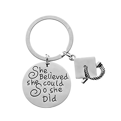 Infinity Collection Graduation Keychain for Girls, She Believed She Could So She Did Graduation Gift, for Graduates, Class of 2019 Edition