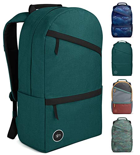 Simple Modern Legacy Backpack with Laptop Compartment Sleeve - 25L Travel Bag for Men & Women College Work School - Moonlight (Accent)