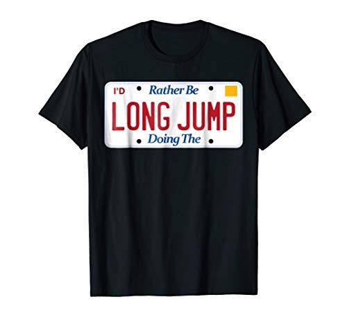 - Track & Field t-shirt; Long Jump tshirt; athletic sports tee