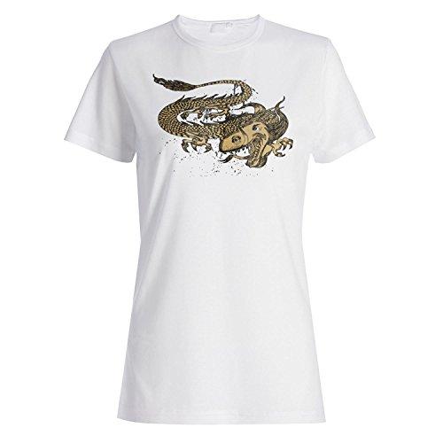 Drache-Neuheit-Weinlese-Kunst Damen T-shirt pp2f