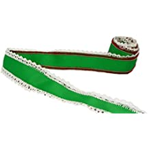 """Porcelynne Red and Green Festive Ribbon - 1 3/4"""" Wide - 1 7/8 Yards"""