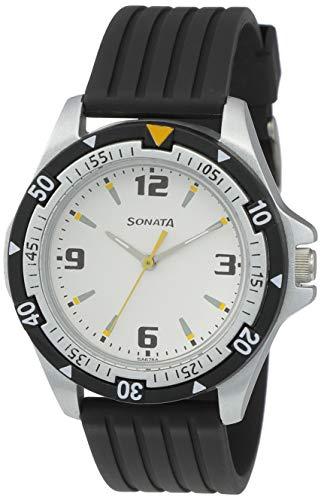 Sonata Super Fibre Analog Black Small Dial Men's Watch -NL7930PP01
