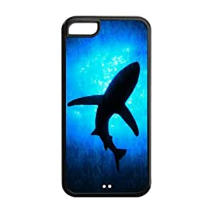 diy zhengTPU Case Cover for iPhone 6 Plus Case 5.5 Inch Strong Protect Case Cute Shark Underwater Sea Shark Jumping Case Perfect as Christmas gift(2)