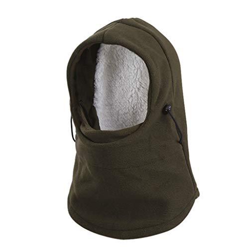 (Mask Cover Winter Riding Windproof Fleece Hood Adjustabel Thick Warm Snow Cap Mask)