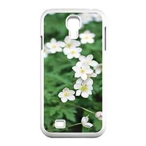 3D Okaycosama Funny Samsung Galaxy S4 Case Flower 344 for Women Protective, Samsung Galaxy S4 Cases for Women, [White]