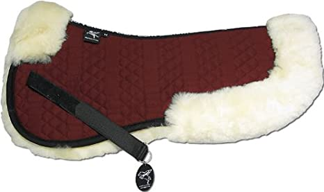 ENGEL GERMANY Sheepskin Halfpad cloth colour red (Sakis 2) colourful: combinable with 12 lambswool colours! Engel Reitsport