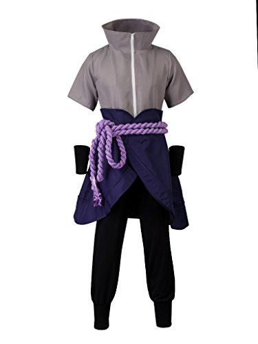 CosFantasy Uchiha Sasuke Ninja The 6th Generation Cosplay Costume mp003607 (Men XS)