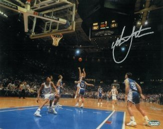 Christian Laettner Signed Autograph Duke Blue Devils Horizontal 11x14 Photo 1992 The Shot vs Kentucky Buzzer Beater