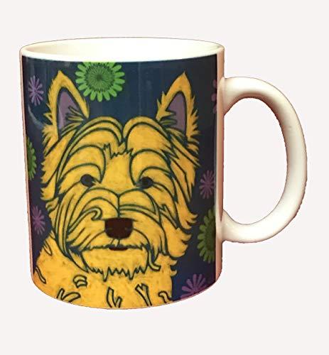 West Highland Terrier Ceramic Mug, 11 oz Westie Coffee Cup by Angela Bond