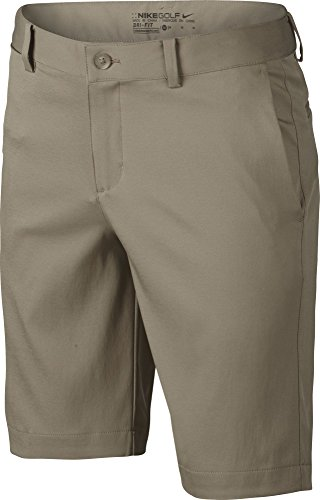 Boys Nike Flat Front Short (MD (10-12 Big Kids), Khaki/Wolf Gray)