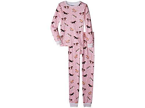 - Hatley Kids Baby Girl's Frolicking Horses Organic Cotton Pajama Set (Toddler/Little Kids/Big Kids) Pink 6