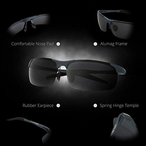 Gafas Gris hombre sol de RIVBOS para ZSq1A6zw