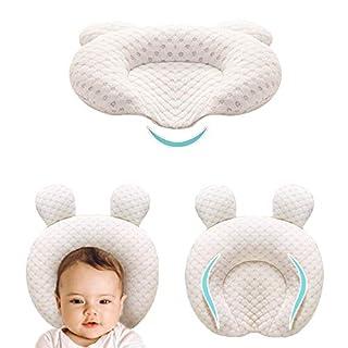 XMWEALTHY Infant Support Head Pillows Soft Baby Nursery Pillows Unisex Newborn Head Shaping Pillow Support Head Sleep Pillows 0-12 M