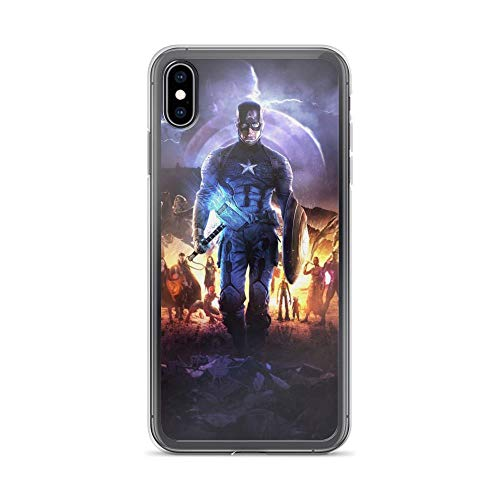 iPhone Xs Max Pure Anti-Scratch Case Captain Shield America with Thor Hammer Mjolnir Steve Rogers Stan Lee Avengerss Movie Shield Comic Superhero (Guardians Of The Galaxy Captain America Shield)