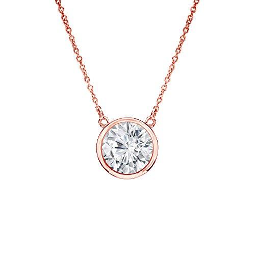 set Round Diamond Solitaire Pendant (1/2 cttw, Good, I1-I2) ()
