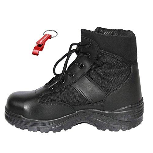 Security Swat SEC Tactical Halbstiefel mit Stahlkappe + AOS-Outdoor® Schlüsselanhänger 38-47