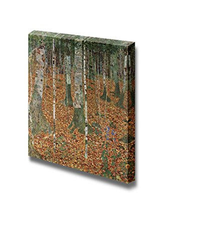Birch forest by Gustav Klimt Print Famous Oil Painting Reproduction