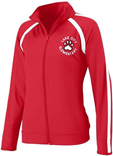 Augusta Sportswear Girls' POLY/SPANDEX JACKET S Red/White