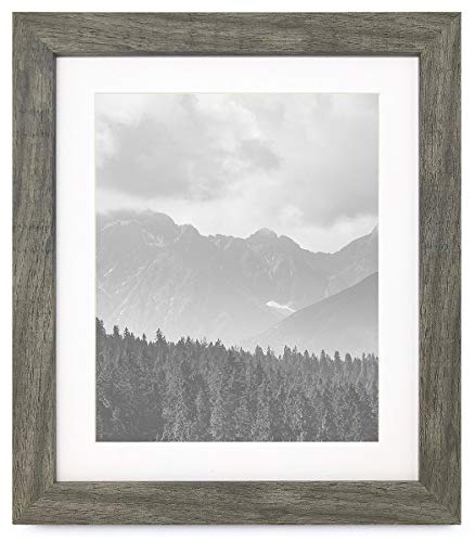 "PF&A 10x12 Picture Frame with Mat for 8x10 - Norfolk Distressed Grey, Real Glass - Style: Textured grain imitation wood - please note that these frames are not wooden Display a 8 x 10"" photo with the mat / Actual mat opening measures 7.5 x 9.5"" Remove the mat to display a 10 x 12"" picture. Visible area will be slightly smaller - see image 4 - picture-frames, bedroom-decor, bedroom - 41Nq5lb5FZL -"