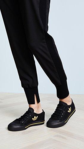 adidas Womens RAF Simons Stan Smith Spirit Low Sneakers Black/Black/Yellow 43JQMqepN