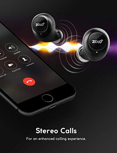 True-Wireless Headphones, ZOLO Liberty [Upgraded] 8-Hour Playtime (100 Hours with Charging Case), Bluetooth 5 Bluetooth Earbuds with Graphene Driver Technology, IPX5 Sweatproof, Handsfree Stereo Calls by Zolo (Image #7)