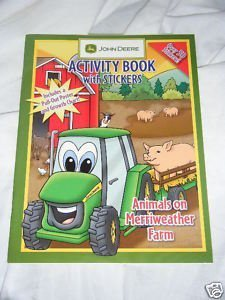 - John Deere Activity Book with Stickers & Poster Animals on Merryweather Farm.