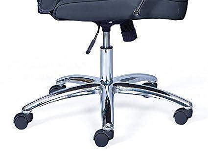 Inter Link Fauteuil de bureau ergonomique pi/ètement m/étal rev/êtement polyur/éthane noir
