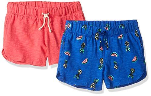 (Spotted Zebra Toddler Girls' 2-Pack Knit Dolphin Hem Shorts, Fruit/Red, 3T )
