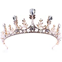 Bridal wedding tiara crown headband birthday banquet crystal crown wheat ear headdress