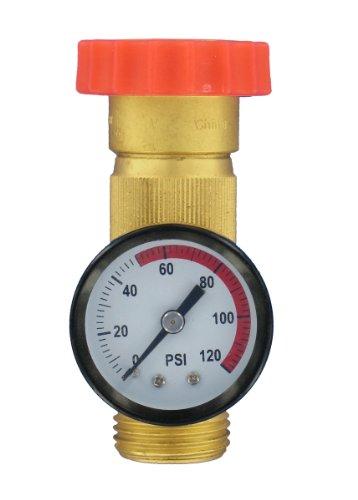 Valterra A01-1124VP Lead-Free Water Regulator and Gauge Combo (Camper Water Pressure Regulator compare prices)