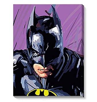 Dirart Rahmenlos Digitale Malerei Marvel Bat Diy Digital Malen Nach