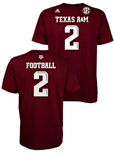 fda7de81cf26 Johnny Football Manziel Texas A&M Aggies Maroon Jersey Name and Number T- shirt XX-