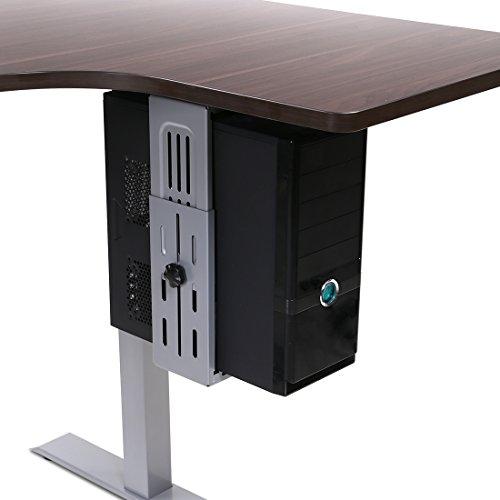 Flexispot Adjustable Computer Mount | Under Desk CPU Mount 180-degree Swivel CPU Holder | Desk and Floor Space Saving. by FLEXISPOT
