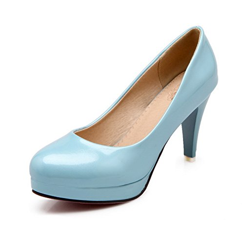Balamasa Ladies Spikes Stilettos Low-cut Uppers Plataforma Bombas De Uretano Zapatos Azul