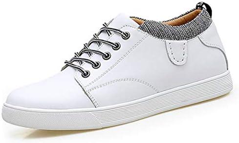 シークレットシューズ 背が高く メンズシューズ 7cm身長アップ デッキシューズ スケートボードシューズ スニーカー メンズ オールシーズン 靴 白 ネイビー レースアップ ラウンドトゥ フラット 歩きやすい