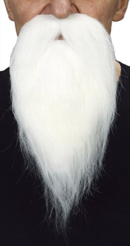 Philosopher white fake beard, self adhesive
