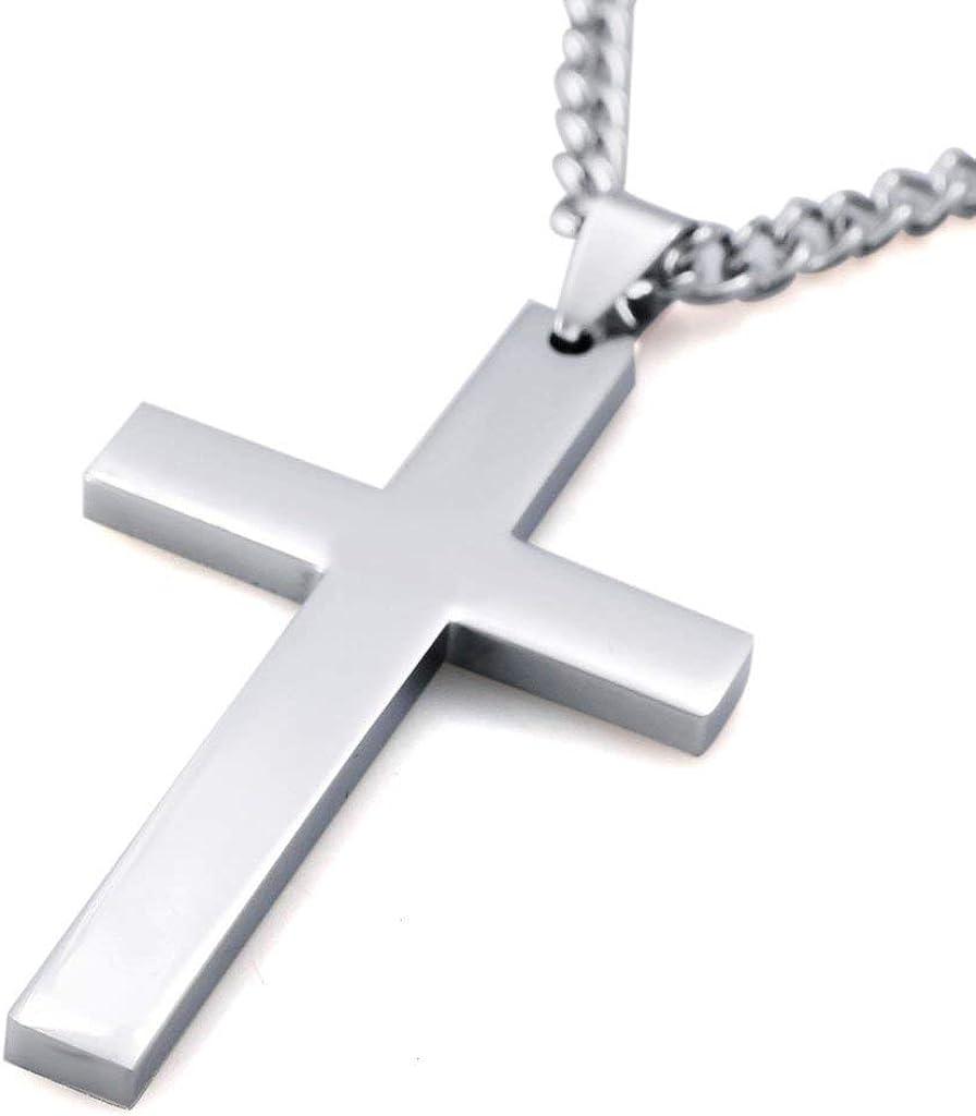 60Cm Croix Chretienne Simple Collier Amour Espoir Faith Pendentif Pour Pour Homme Femme Gar/çon Filles