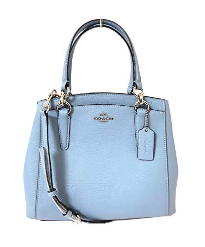 COACH Crossgrain Leather Minetta Crossbody Shoulder Bag (SV/Cornflower)