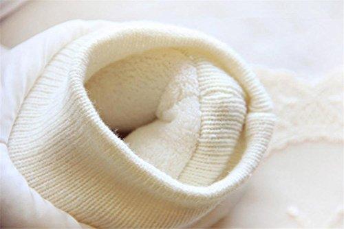 Para Color Calientes Casa En De Mujer Blanco Tamaño Pequeño Zapatillas Casual Mhgao Mantener Zapatillas Lana nZqPWCfB