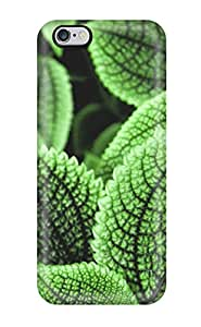 Series Skin Case Cover For Iphone 6 Plus(green Leaves With Black Veins)
