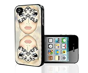 Colorful Makeup Face Chart with Hearts Hard Snap on Phone Case (iPhone 4/4s)