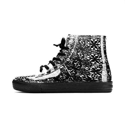 Chemistry Womens Ankle Flat Floral Paisley Jelly Rain Boots Sneaker Black