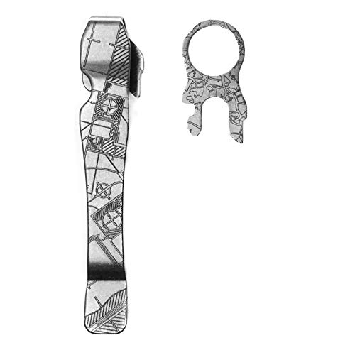 - Pocket Clip for Leatherman Wave, Surge & Charge | Premium Titanium | Quick Release | Custom Designs | Extra Carry Options for your Multi-Tool | 'House Plans'