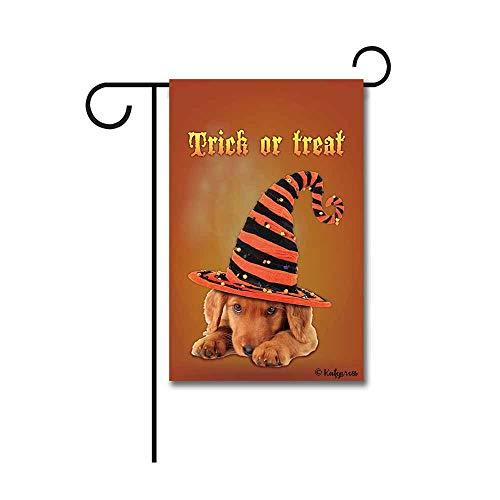 KafePross Happy Halloween Trick Treat Garden Flag Cute