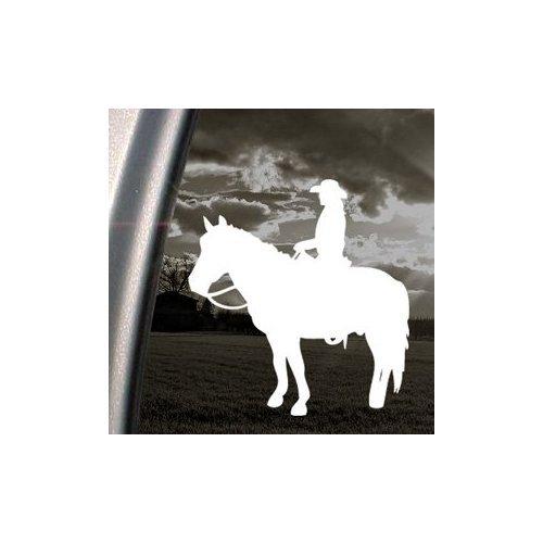 WESTERN COWGIRL ON HORSE RANCH FARM WHITE COLOR HOME DECOR NOTEBOOK VINYL WALL WALL ART LAPTOP MACBOOK HELMET CAR DIE CUT WINDOW STICKER